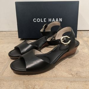 Cole Haan Leather Wedge Sandal